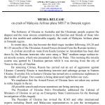 Ukrainian Embassy Media Release