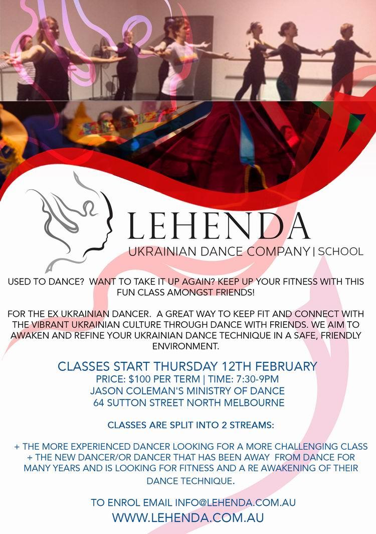 dance studio flyer