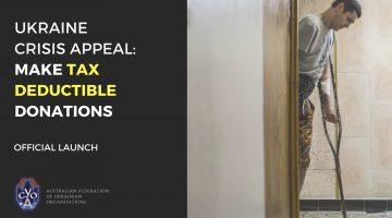 Help Ukraine's Veterans & their families through Tax Deductible Donations